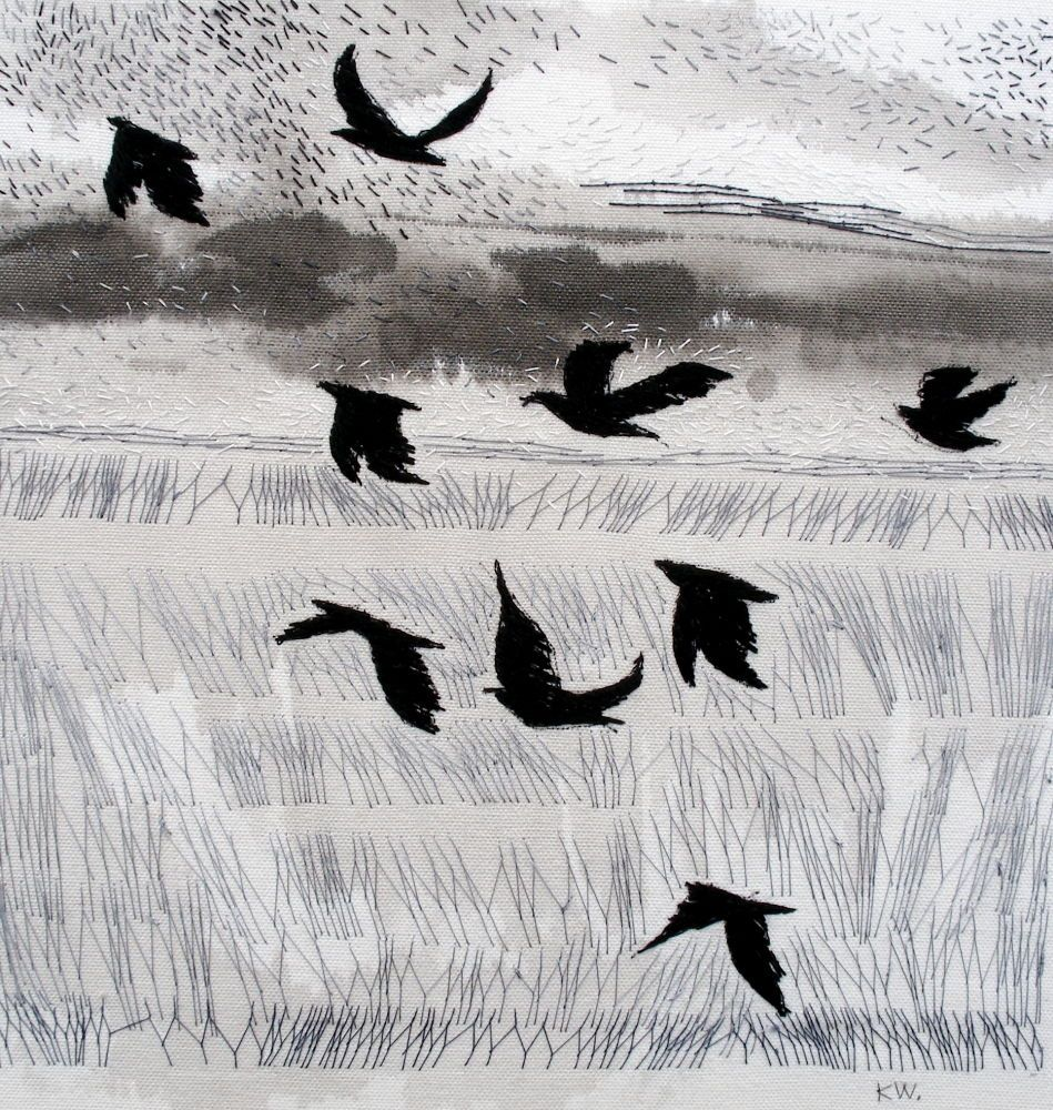 Kate Wells textile artist : embroidery and  ink