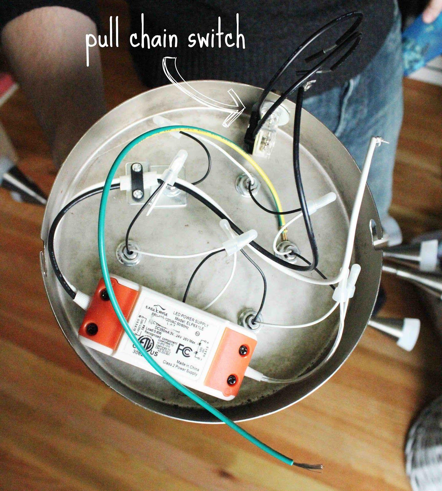 Convert Light Fixture To Pull Chain