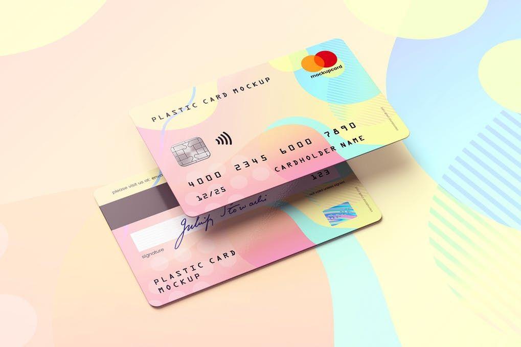 29 Top Credit Card Mockup Psd Templates Mockuptree Credit Card Design Plastic Card Debit Card Design