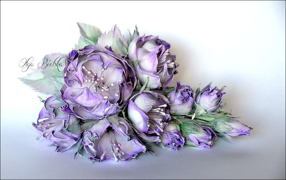 Foamiran Flowers Kwiaty Z Foamiranu Floral Craft Flowers Floral Wreath