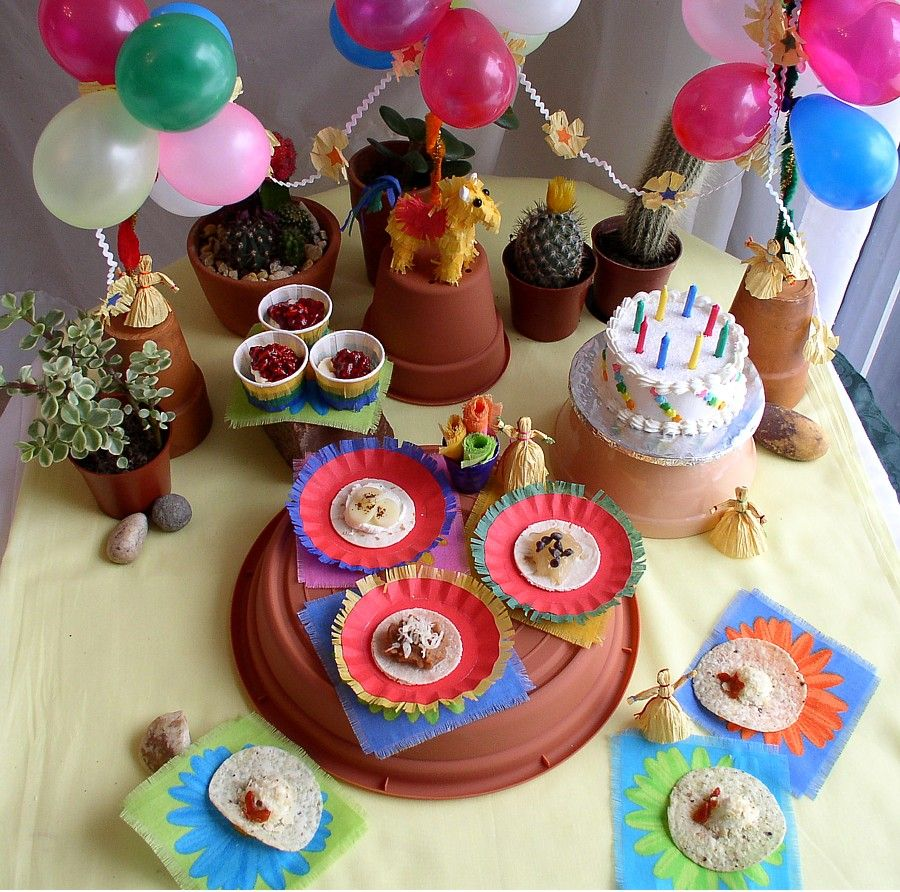 Miniature Birthday Fiesta lets have a party moments Pinterest
