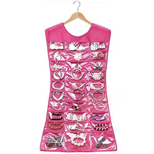 HOT Pink Dress Hanging Jewelry Organizer only 389 Get FREE