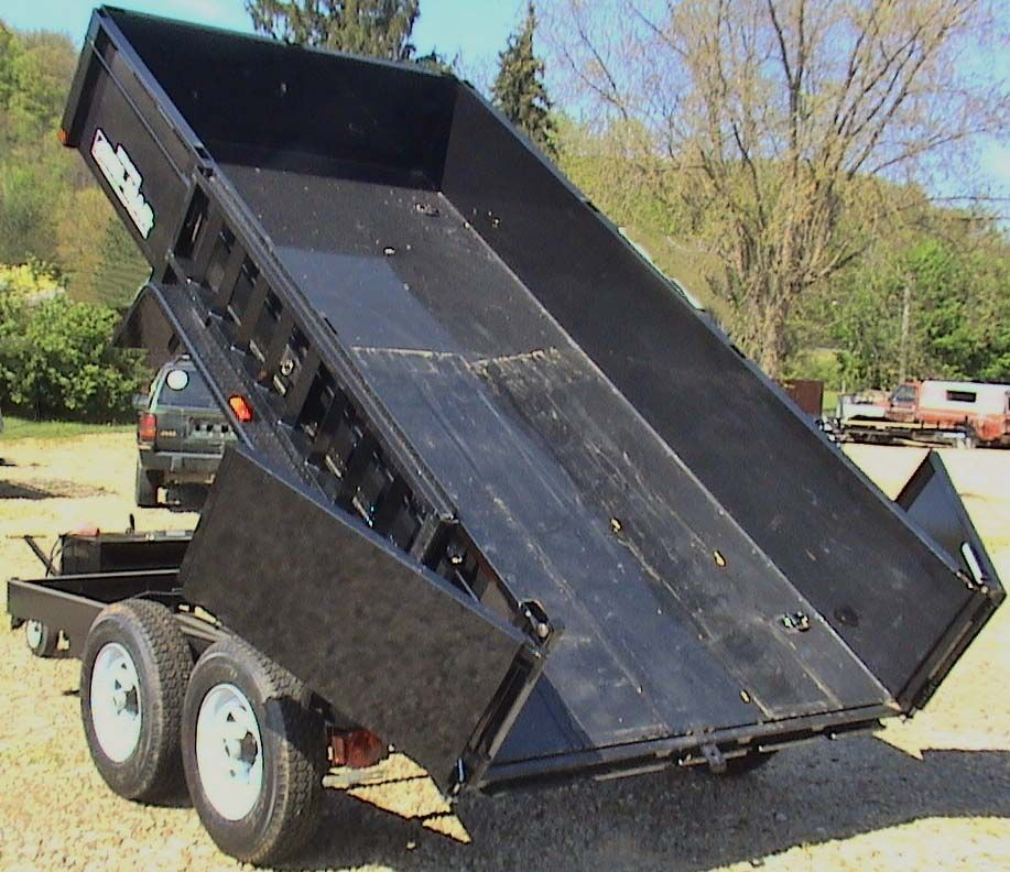 Bri Mar Dt612lp Le 10 Dump Trailer With Barn Doors Dump Trailers Trailer Camping Trailer
