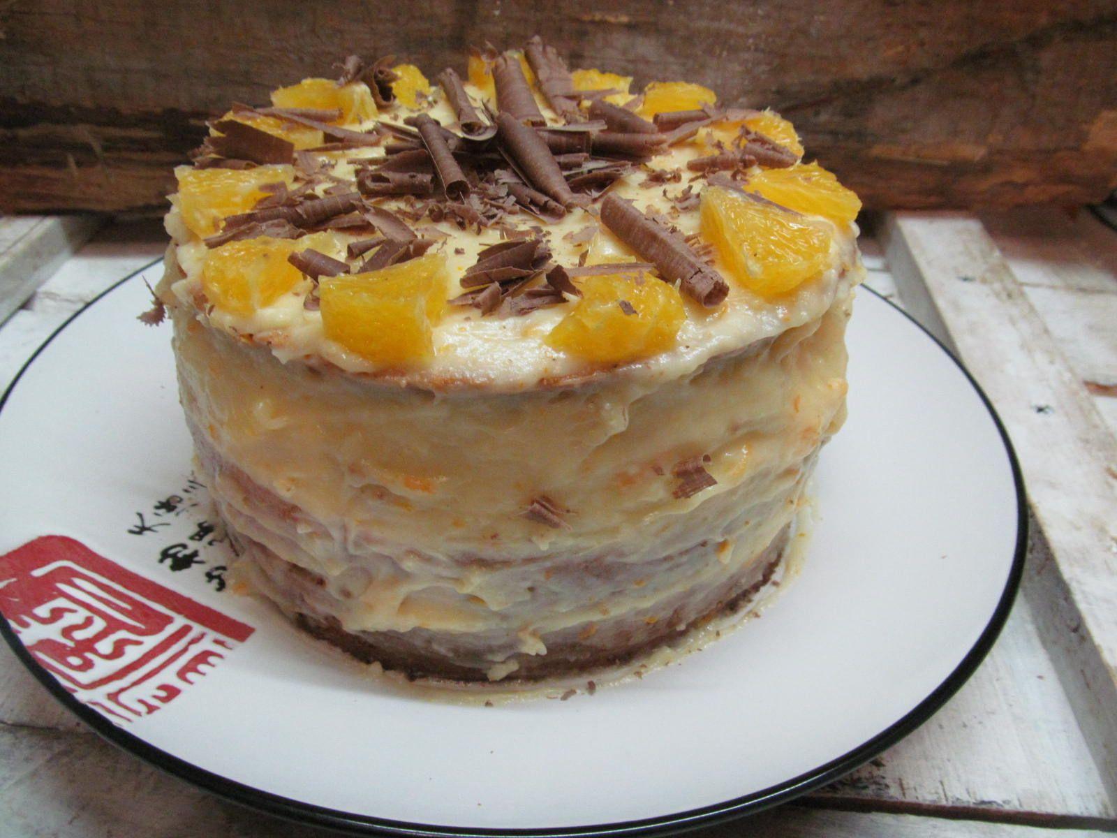 апельсиновый бисквитный торт рецепт с фото если