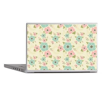 "Nostalgic flowers Laptop Skins Beige seamless vintage pattern ""Nostalgic flowers""  $22.09"