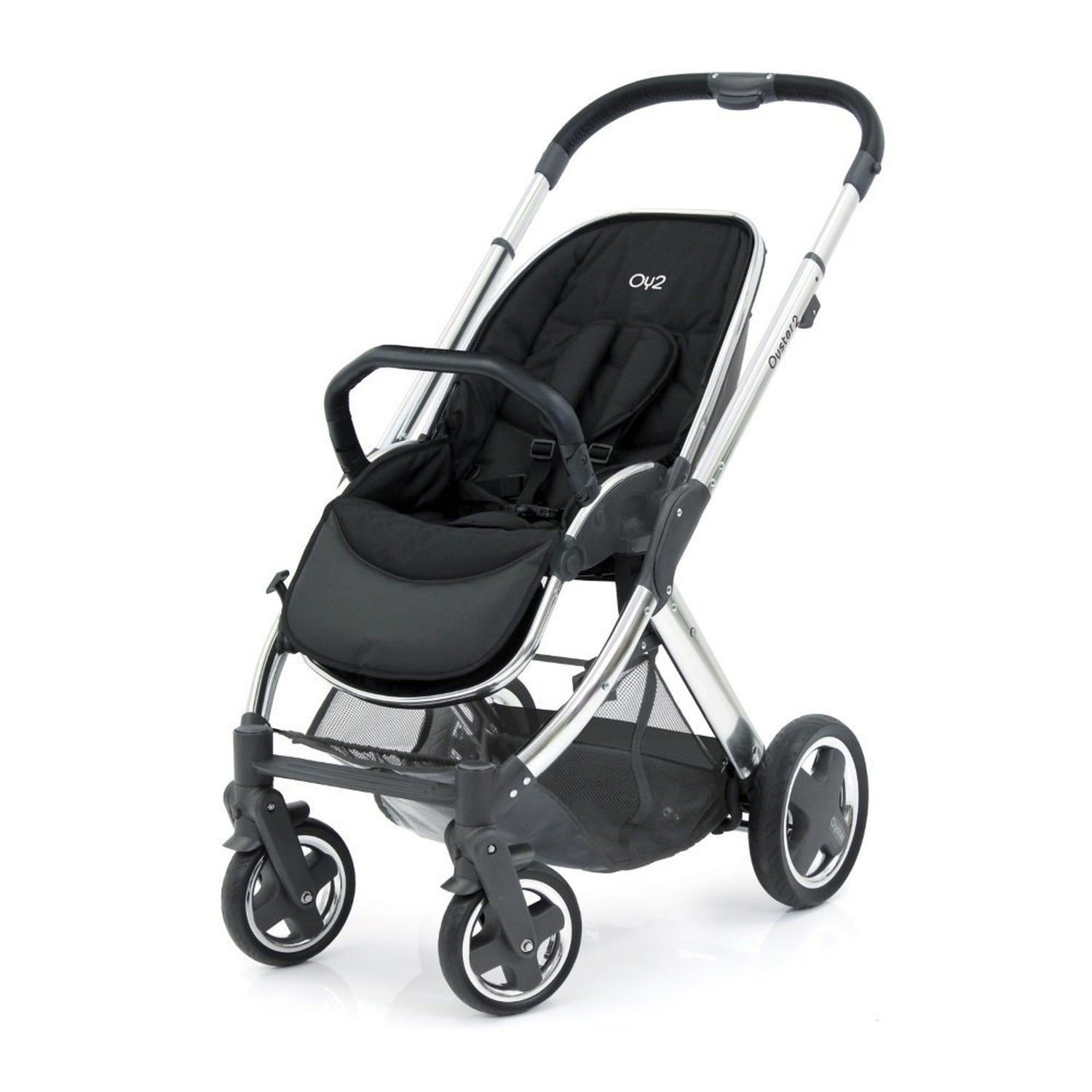 Oyster Double Pram Mothercare Oyster 2 Chassis Mirror Black Leather Products In 2019