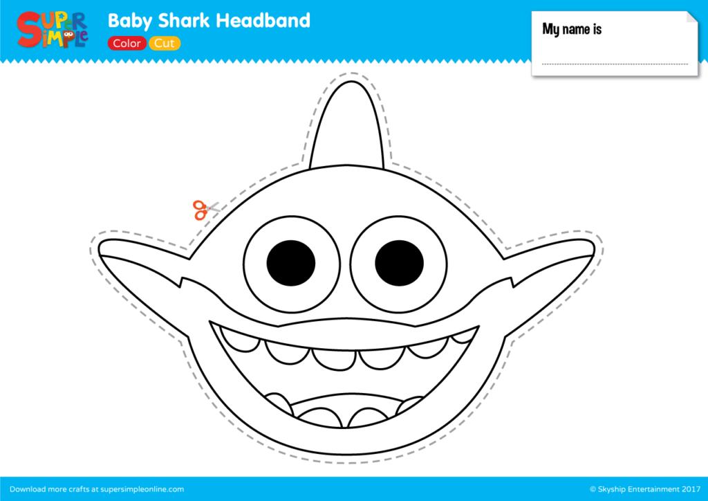 Baby Shark Headband Super Simple Shark Crafts Preschool Shark Craft Shark Mask