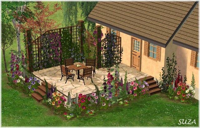 2 On sims 2 garden ideas