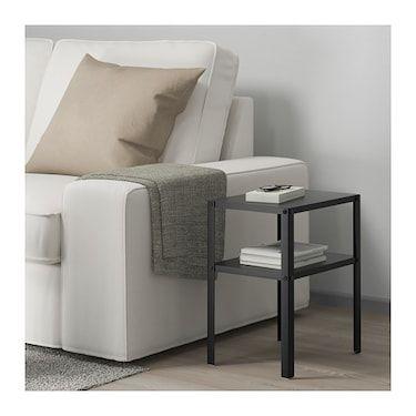 Knarrevik Bedside Table Black Ikea In 2019 Bedside Table