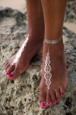 Ava Temporary Metallic Jewelry Tattoos - Floral Temporary Jewelry Tattoos | Soft Surroundings