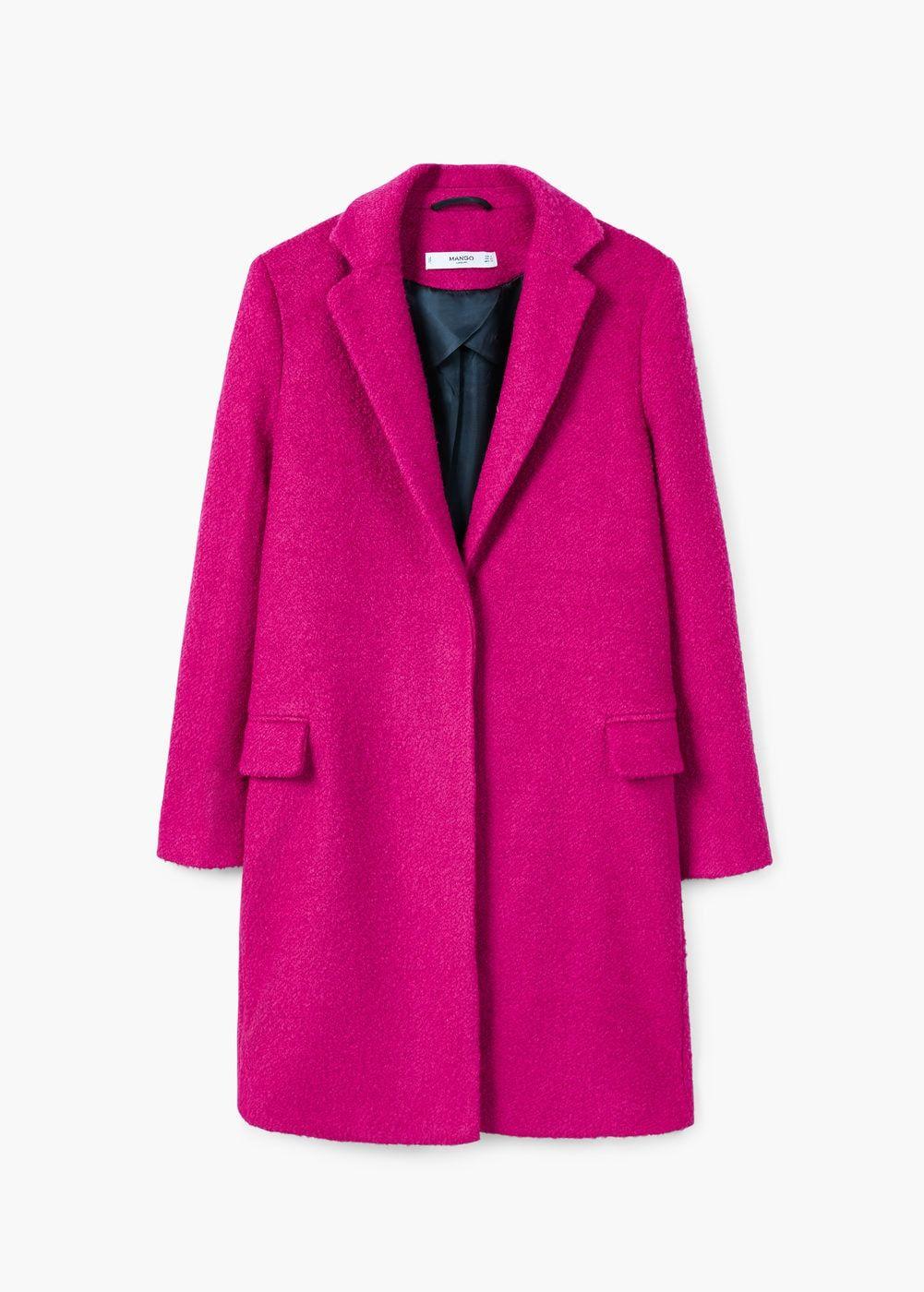 cómo llegar mejor mayorista precio especial para Abrigo lana estructurado - Mujer | Colorful style | Pink ...