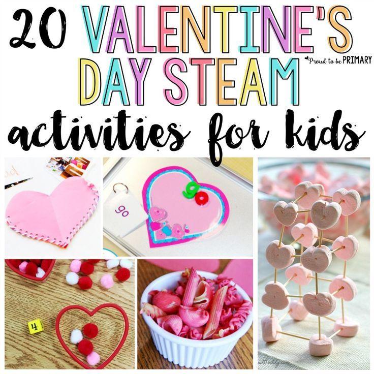 20 Valentine\'s Day STEAM Activities for Kids | Activities ...