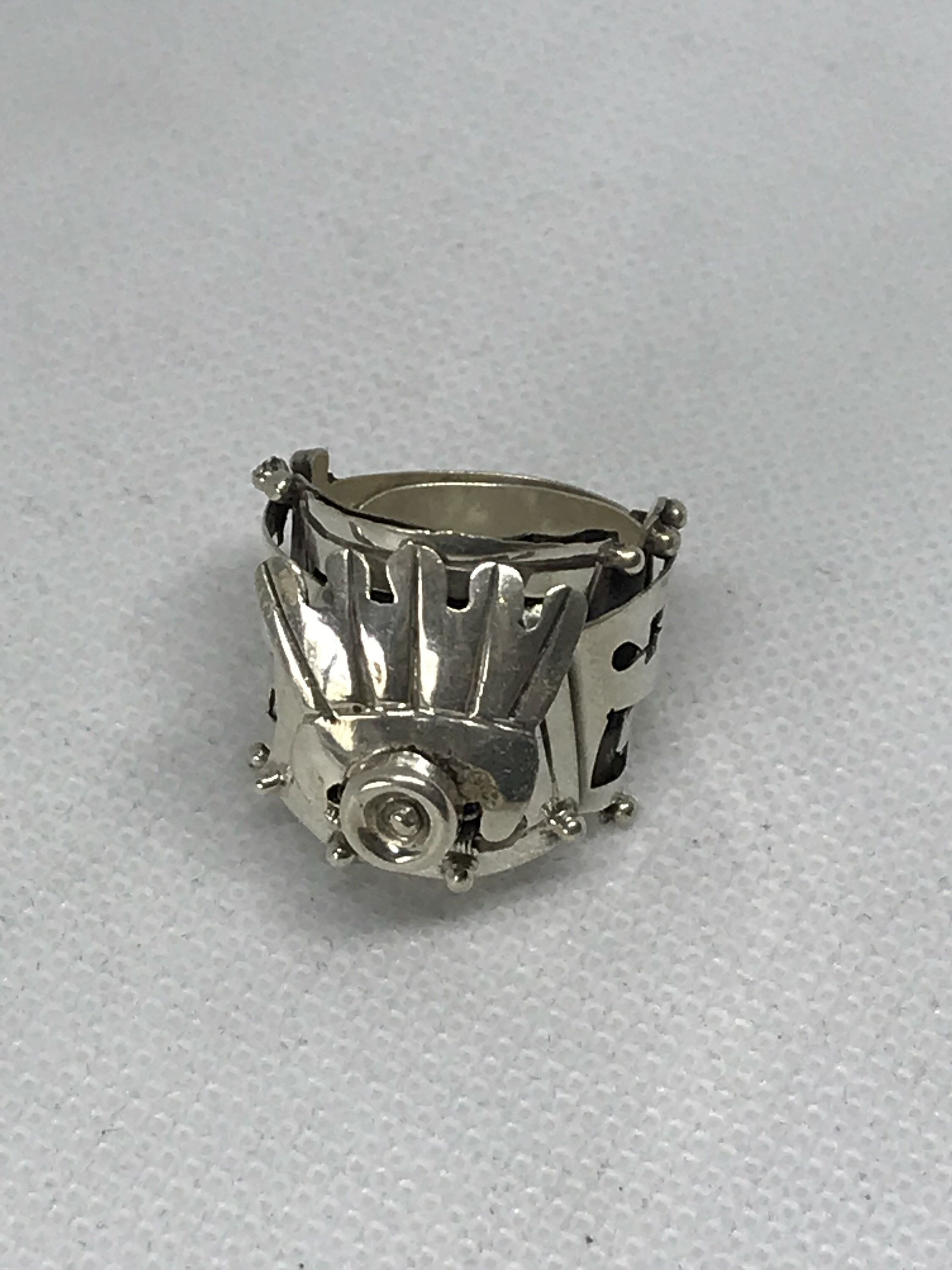 Vintage TAXCO EJD Eagle 3 Mexico Sterling Silver 925