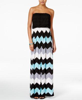 1bee92614 Trixxi Juniors' Crochet Printed Maxi Dress | macys.com | What to Wear