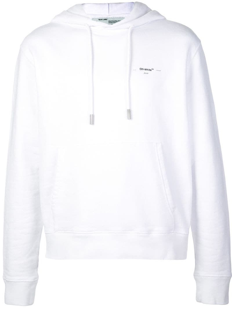 Off White Logo Hooded Sweatshirt Farfetch Hooded Sweatshirts Sweatshirts Off White Clothing [ 1067 x 800 Pixel ]