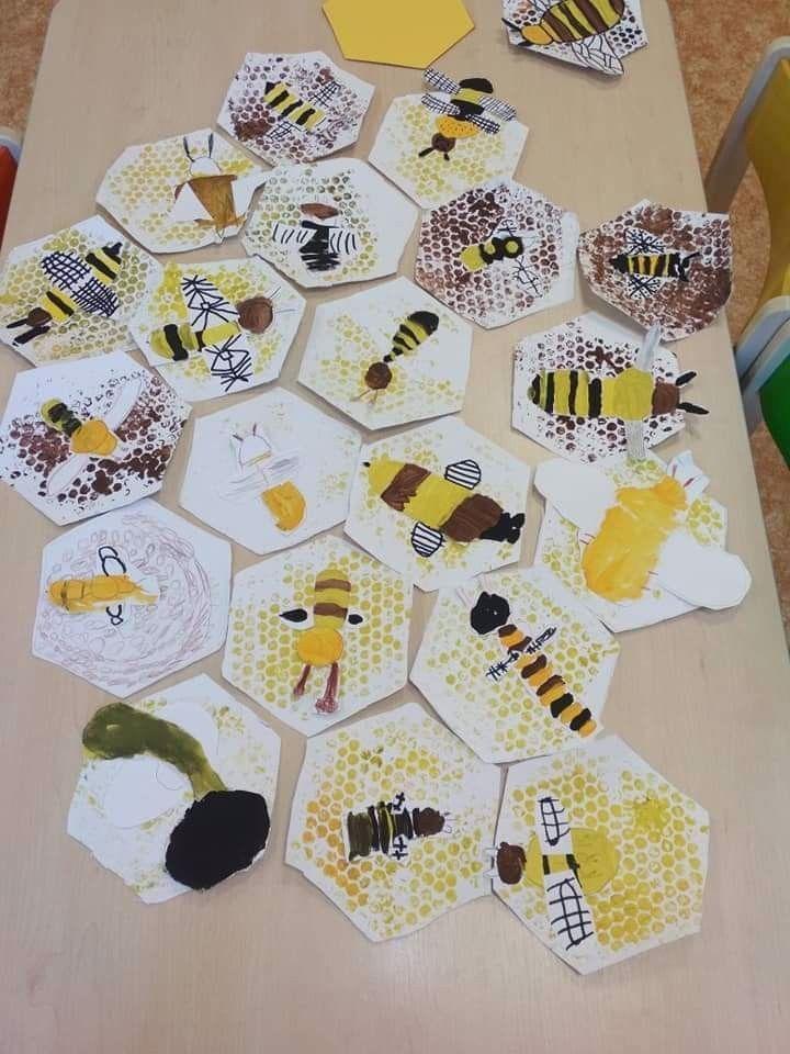 Bienen Bastelei DIY mit Kindern #insects Bienen Bastelei DIY mit Kindern