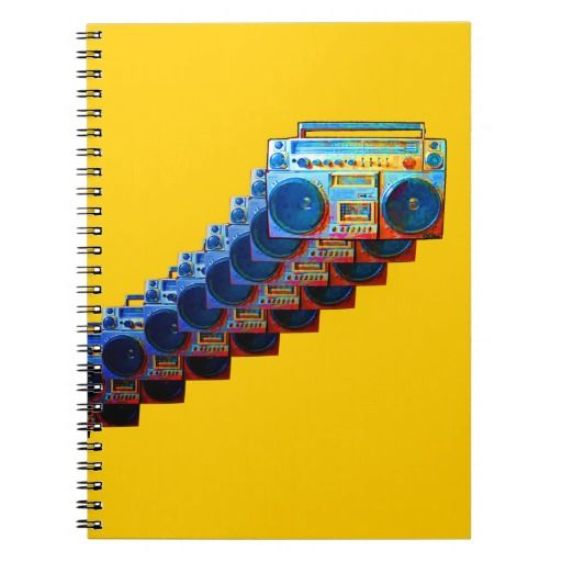 Retro Boomboxes Notebook     #oldschool #retro #backtoschool #zazzle