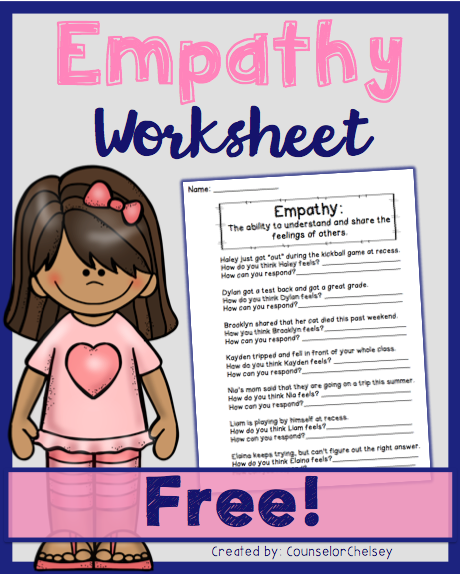 Empathy Worksheets - Free | Elementary School Counseling | Social ...