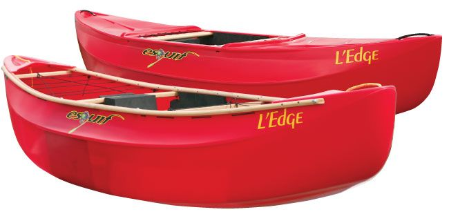 Plastic boat with wood  Esquif Ledge | Canoe and Kayak in