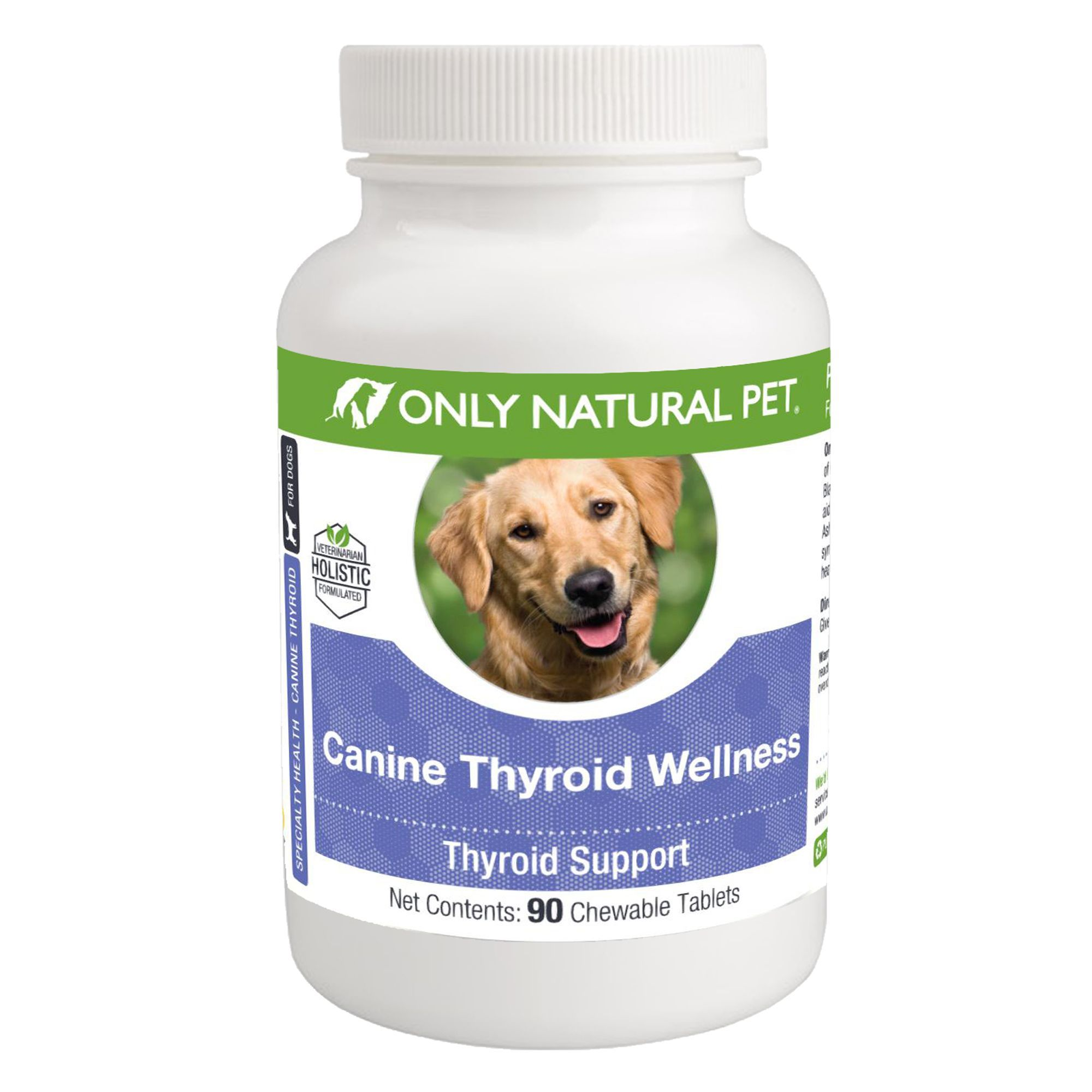 Only Natural Pet Canine Thyroid Wellness Chewable Tablets In 2020 Natural Pet Dog Supplements Pets