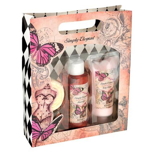 Simply Elegant Floral Bath Set | Poundland | Floral bath ...