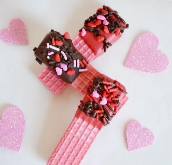 Valentines Day Chocolate Dipped Wafer Cookies Recipe Be Mine