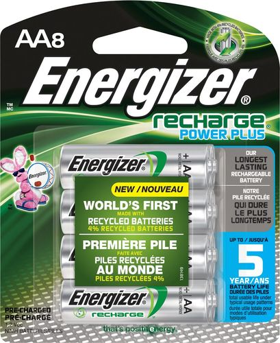 Energizer Recharge Power Plus Rechargeable Aa Batteries 8 Pack Nh15bp 8 Best Buy Rechargeable Batteries Energizer Energizer Battery