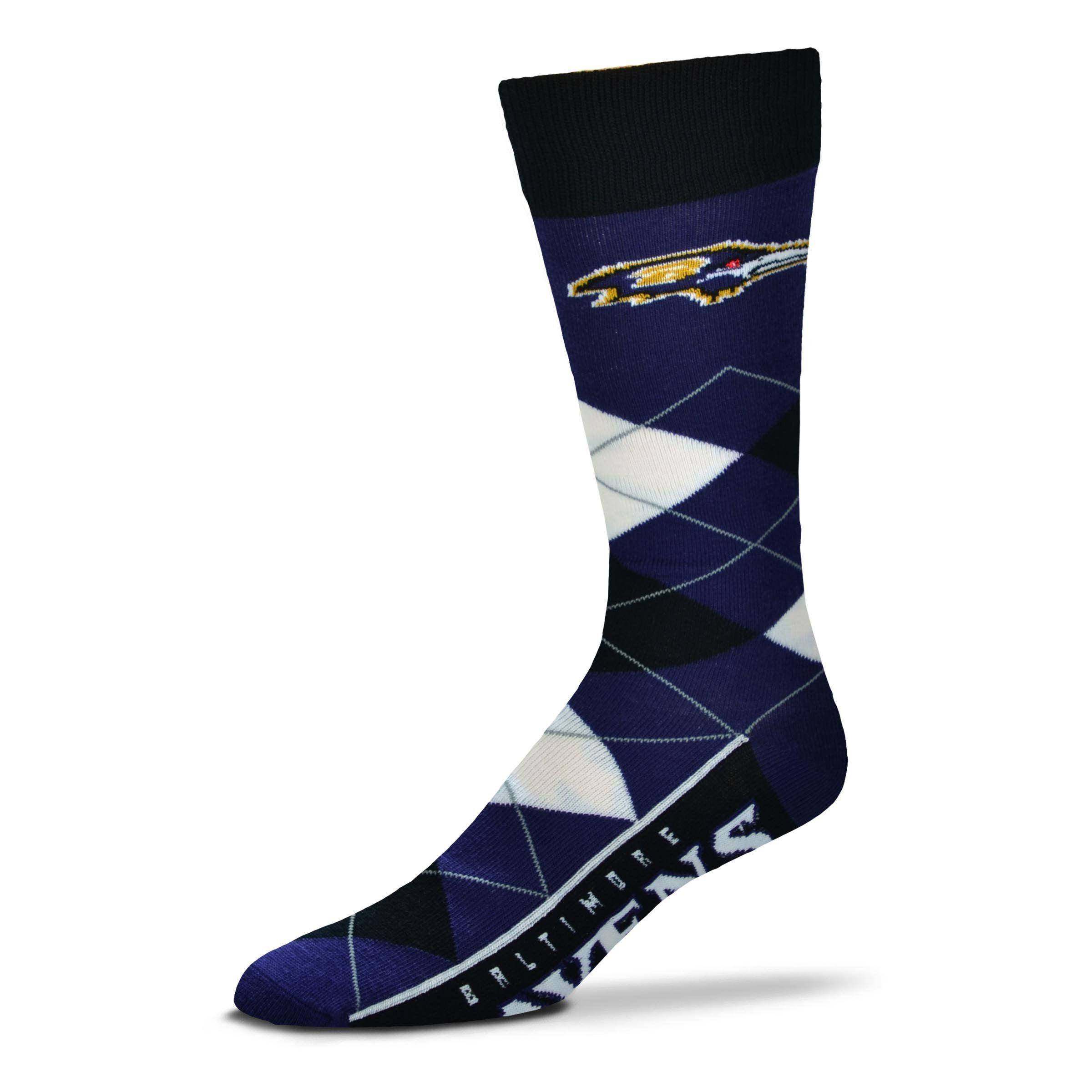Baltimore Ravens Menus NFL Football Argyle Lineup Socks