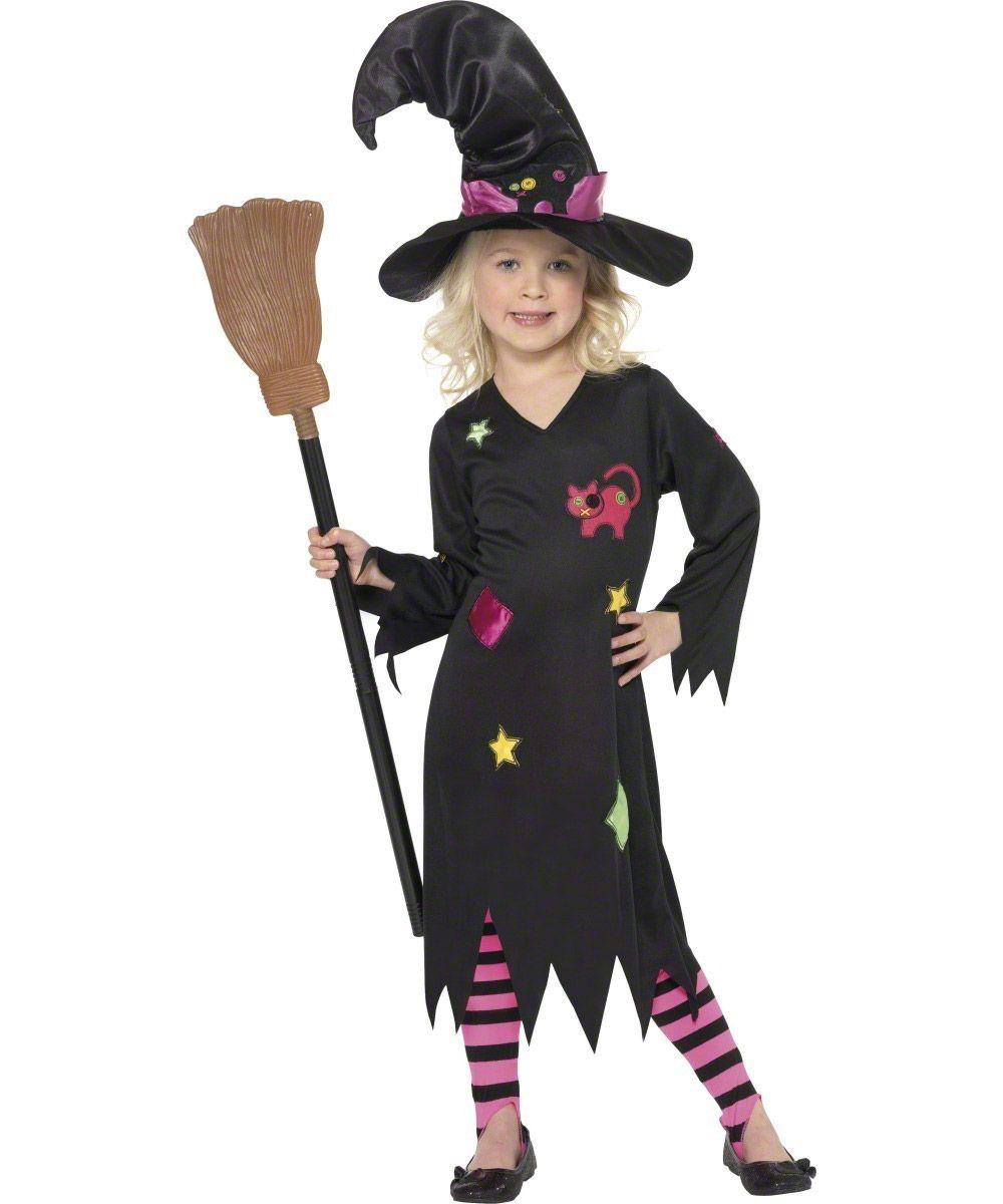 Disfraz de bruja de los gatos para niña ideal para Halloween - Disfraces para niños, Disfraz ...