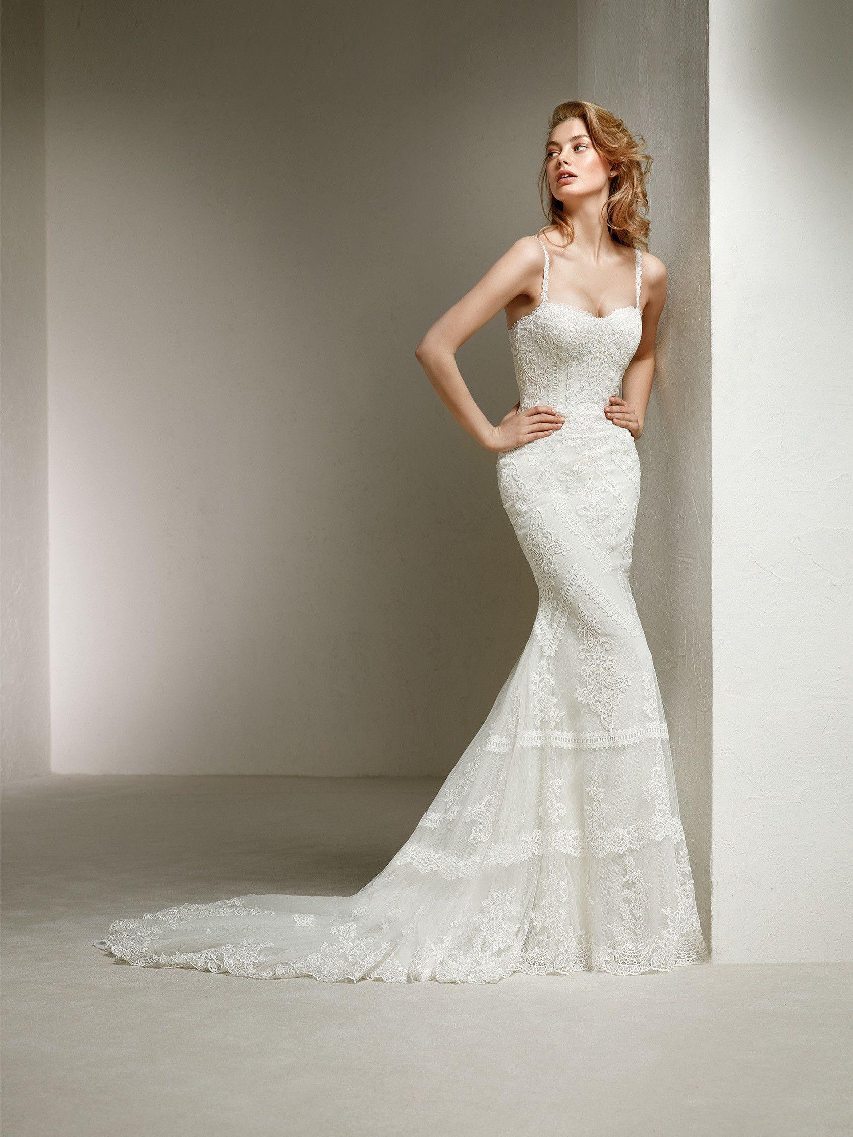 Mermaid dress wedding  bohemian mermaid wedding dress  vestidos boda  Pinterest  Mermaid