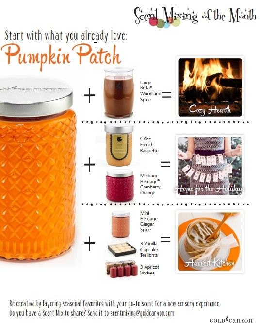 Scent Mixing with Pumpkin Patch (one of my favourite fragrances!)
