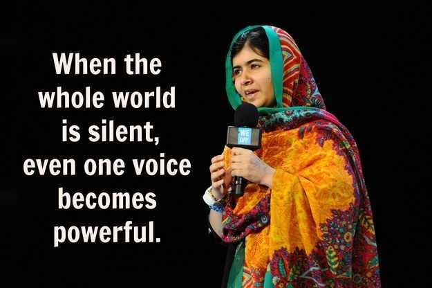 12 Powerful And Inspiring Quotes From Malala Yousafzai Frases De