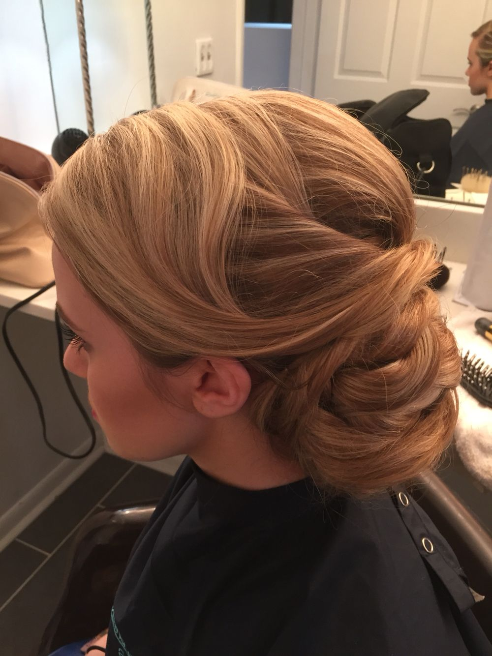 bridal hair , prom hair , updo , formal hairstyling , wedding hair