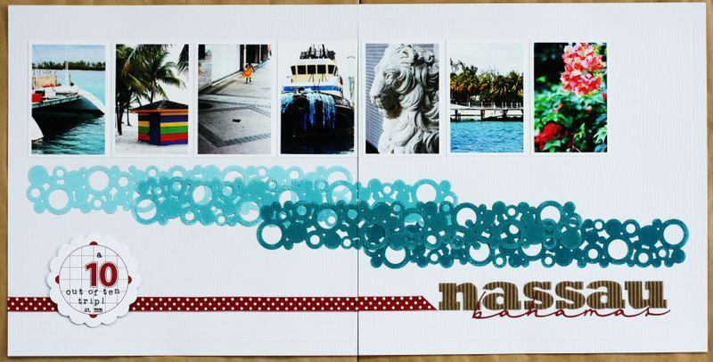 #papercraft #scrapbook #layout.  Bahamas scrapbook page idea