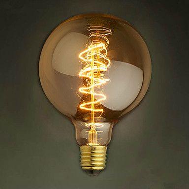 E27 220 240v 40w Bombillas Incandescentes De Seda G95 Filamento De Carbono Alrededor De La Perla Luces De Bulbo Bombillas Incandescentes Iluminacion De Edison