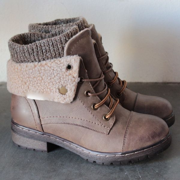 c7a0ffb8de coolway - bring leather knit sweater cuff ankle boots (4 colors) -  shophearts - 1