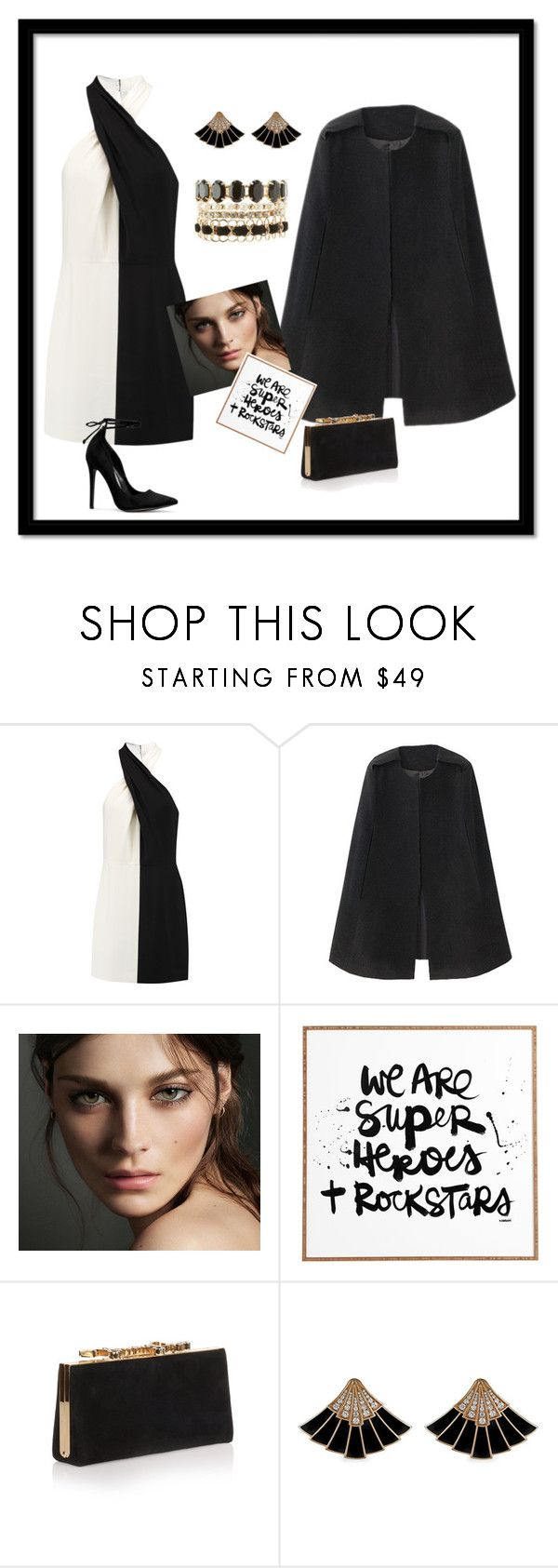 """""""Basic party"""" by rania-kherraf ❤ liked on Polyvore featuring Halston Heritage, Burberry, DENY Designs, Jimmy Choo and Charlotte Russe"""