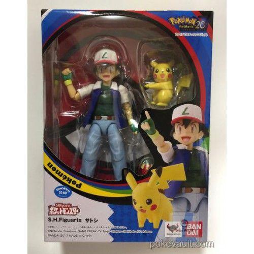 Pokemon 2017 S H Figuarts Ash Ketchum Pikachu Poseable Action Figure Set Pokemon Action Figures Pikachu