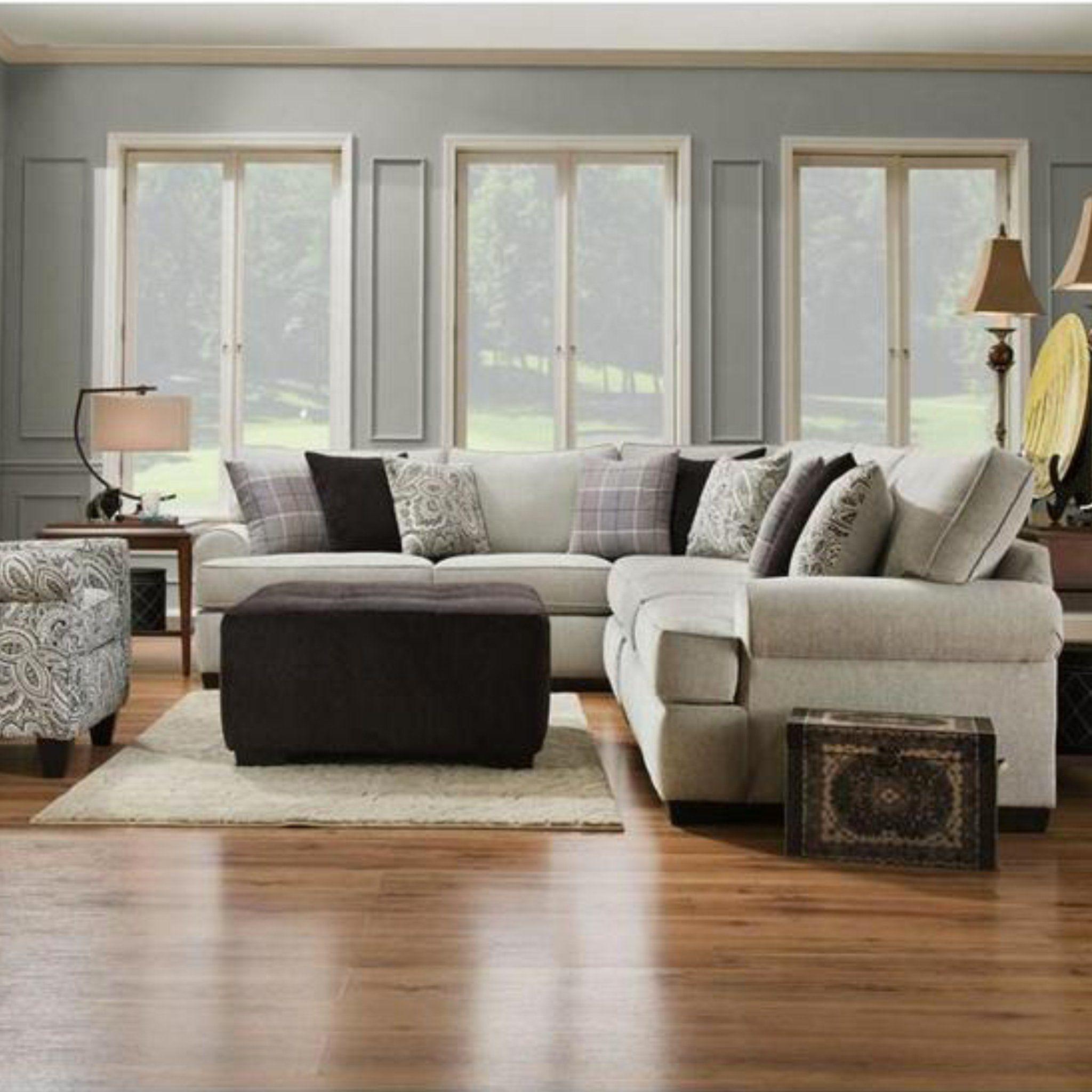 2 Piece Sectional In 2021 Sectional Sofa 2 Piece Sectional Sofa Farmhouse Living Room Furniture
