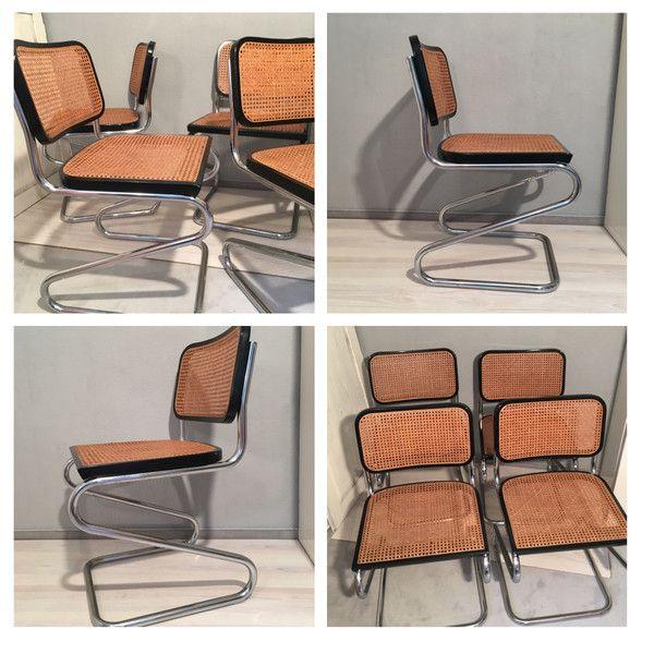 Vintage Stuhle 4 Freischwinger Stuhle Stahlrohr Wiener