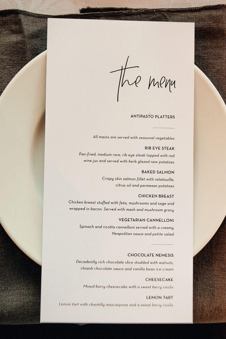 Photo of Ich liebe das Design auf dieser Speisekarte Acorn-Photography-Dunedin-and-New-Zealand-Wedding-p … – Image +