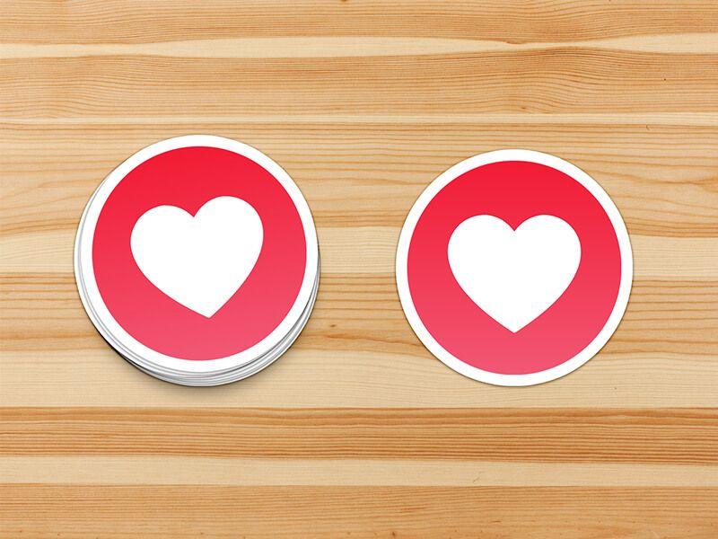 Sticker Mockup Freebie | Mockups | Mockup, Free stickers