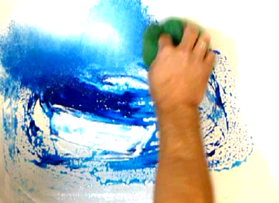 Abstract Art Modern Painting Techniques by Peter Dranitsin: Simple step by step technique on painting a seascape abstract art painting.