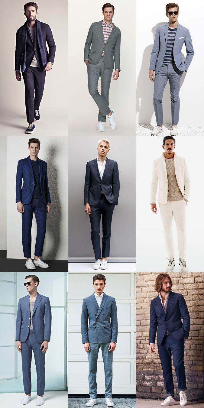 c07098dd063 Men's Suit and Trainers Outfit Inspiration Lookbook | Nice looks in ...
