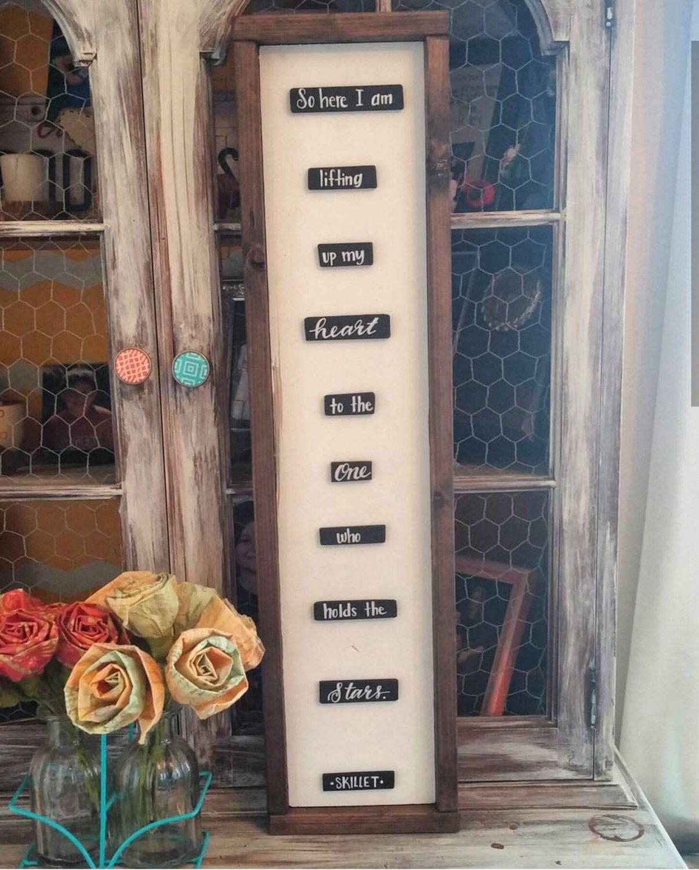 Skillet-Stars Lyrics Inspired Wooden Sign by campfireshop on Etsy