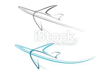 Flying airplane - isolated vector icon Royalty Free Stock Vector Art Illustration