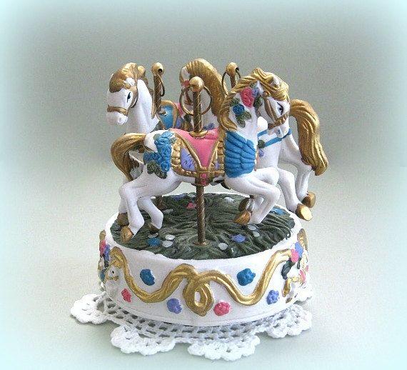 Carousel Music Box Carousel Horse Decor Merry Go by afloralaffair