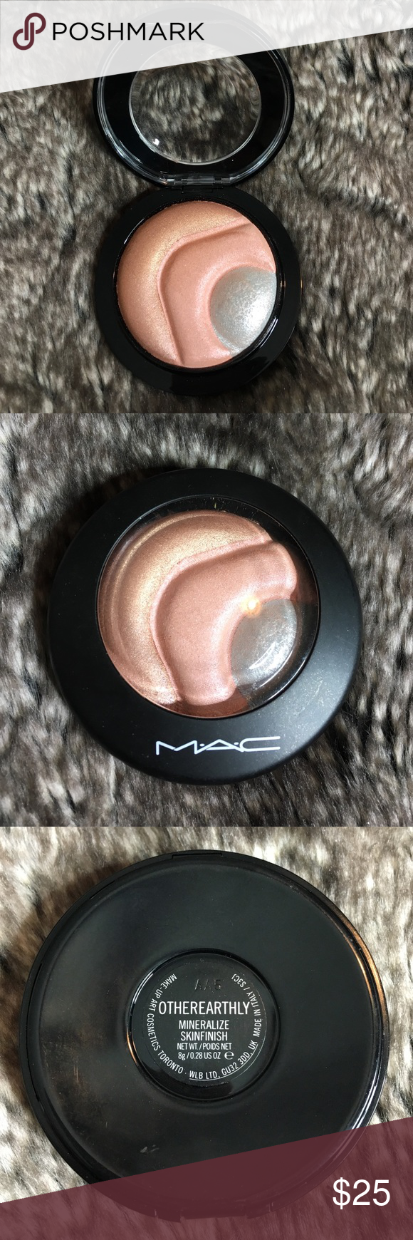 mac otherearthly used twice. authentic and no trades. MAC Cosmetics Makeup Luminizer