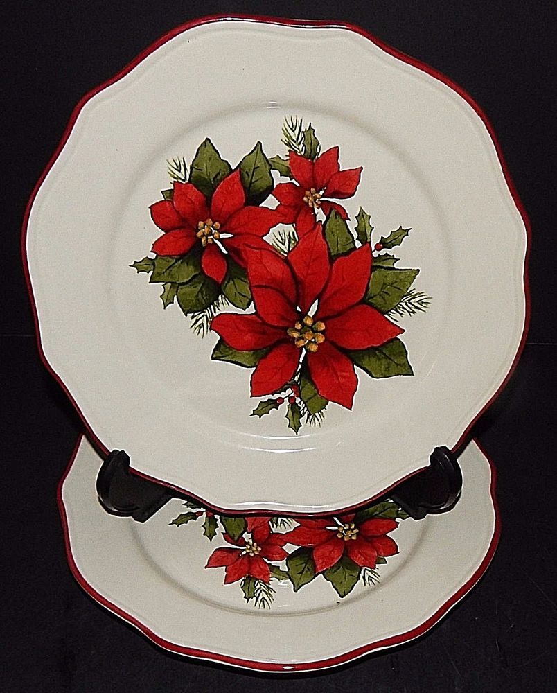 Better Homes And Gardens Christmas Dishes 2019 2 Better Homes and Gardens Christmas Poinsettia Dessert Salad