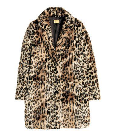 Mantel aus Fellimitat | Leopardenmuster | Damen | H&M DE